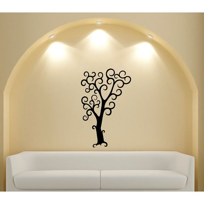 Halloween Tree Glossy Vinyl Wall Decal Part 60