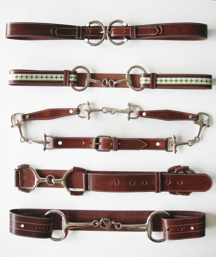 """From show ring to street fashion, the LILO sample leather belt board has horse shoes to bits in all sizes that come in 1"""" to 3"""" widths.:"""