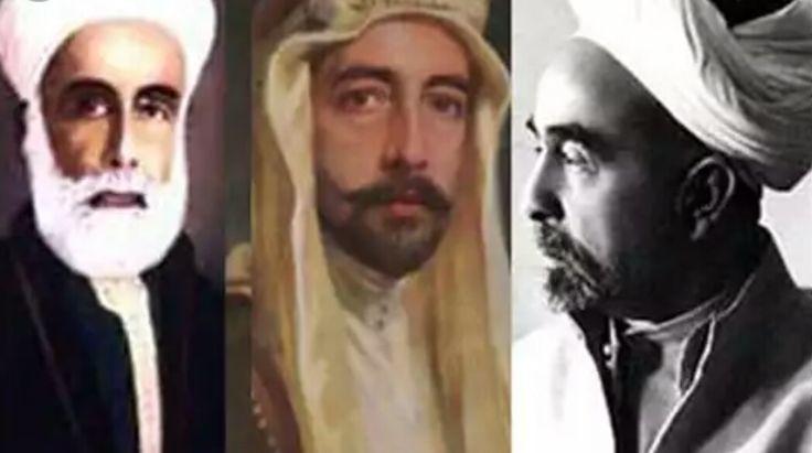 Şerif Huseyin(Mekke) Ogullari :Kral Faysal(Irak),Emir Abdullah(Ürdün)