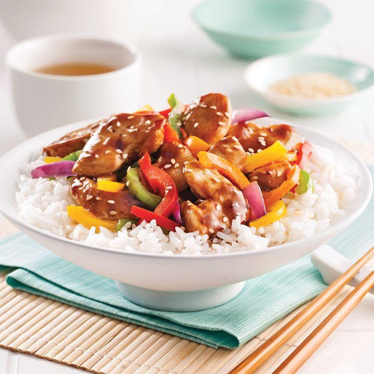 Poulet teriyaki et légumes sautés - Recettes - Cuisine et nutrition - Pratico Pratique