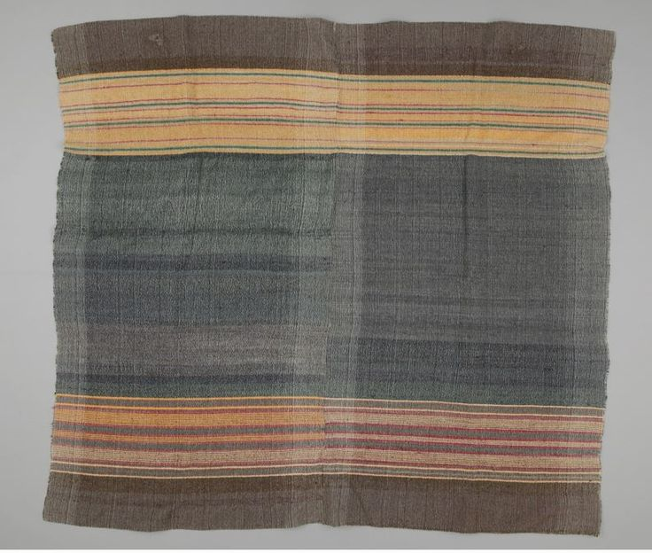 Blanket, Canada, Late 19th century, wool, twill woven