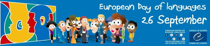 European Day of Languages 🗣- 26 September, 2016 | Celebrate the European Day of Languages with us! At the initiative of the Council of Europe, Strasbourg, the European Day of Languages has been celebrated every year since 2001 on 26 September. http://www.coe.int/t/dg4/linguistic/JEL_en.asp