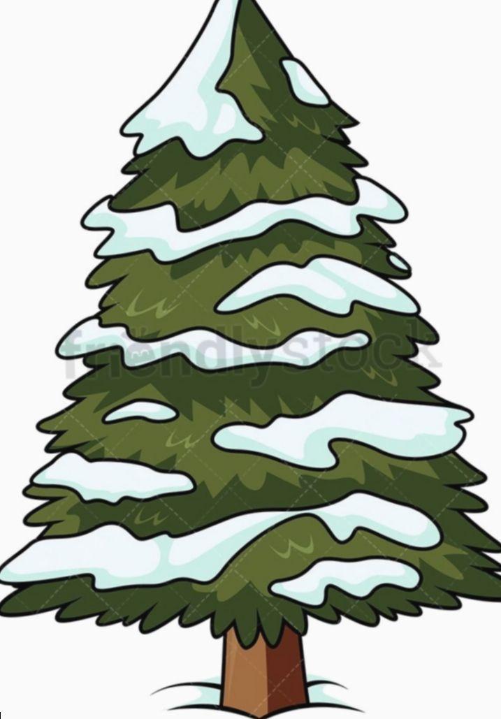7 Christmas Tree Cartoon Theme Cartoon Christmas Theme Tree Cartoon Christma In 2020 Cartoon Christmas Tree Christmas Tree With Snow Snow Covered Christmas Trees