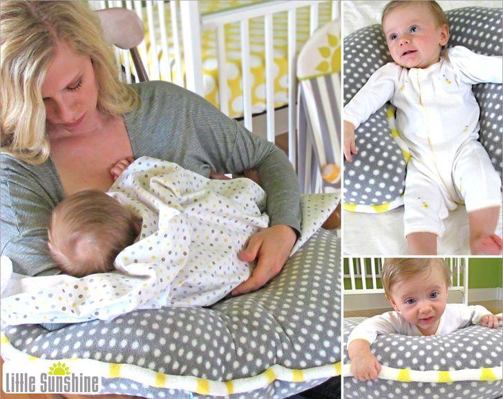 Little Sunshine Support Pillow for Nursing & More   Sew4Home