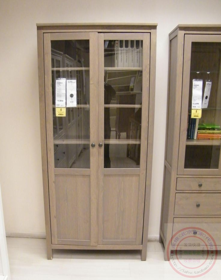 Professional purchasing levy Beijing IKEA HEMNES glass-door Cabinet 90*37