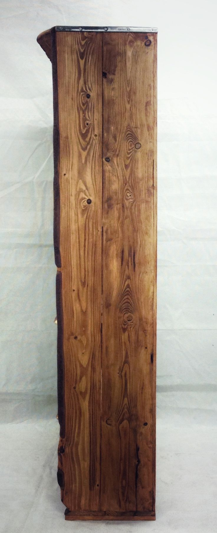 Hand crafted closed, made of Ash-wood with cortex. 205 cm x 88 cm x 44cm
