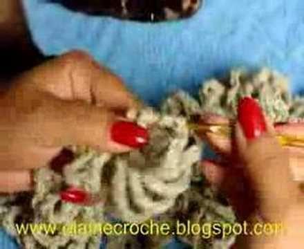CROCHE - CACHECOL TIPO COLAR - 2 ª PARTE - FINAL - YouTube
