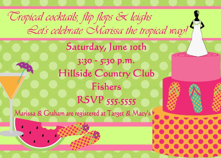 8 best Bridal Shower images on Pinterest Birthday fun, Birthday - fresh birthday party invitation ideas wording
