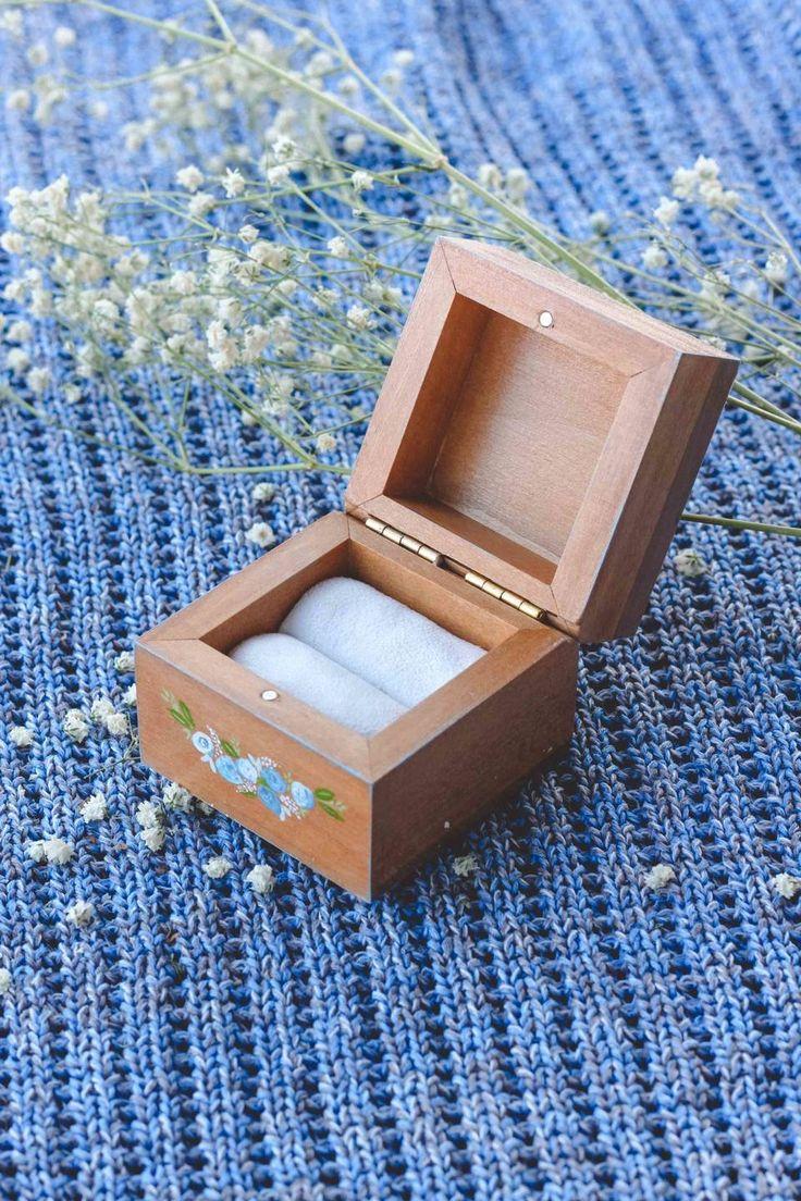 Деревянная шкатулка для колец с росписью по вашей фотографии. От мастерской Авторский Киоск