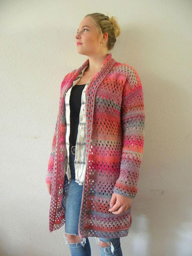 Vest Granny Stripe Cinque | Naaldkunst Alkmaar: Haken, breien en borduren