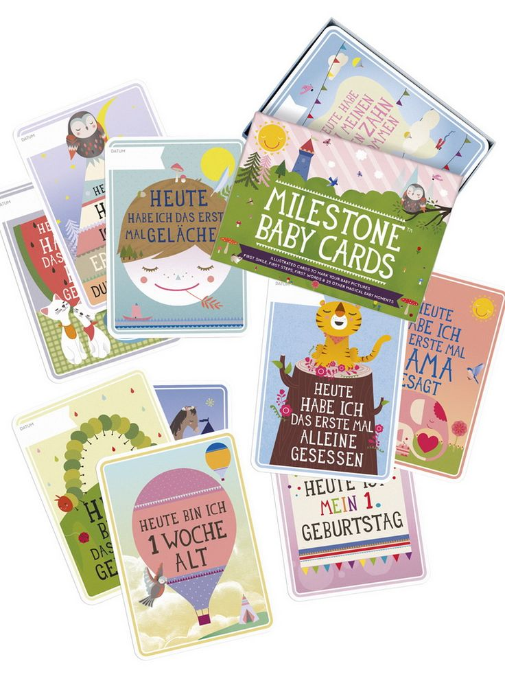 Milestone - The Original Baby Cards. 30 cards to remind you of the special moments in baby's first year!