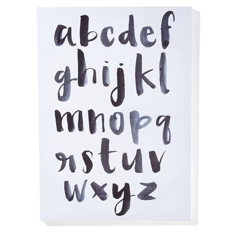 Alphabet Print Canvas