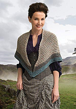 Outlander the Series Kit: Lavish Mac Kenzie Clan Shawl (Crochet) (Image1)