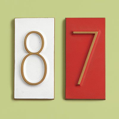 Handsome house numbers heath ceramics ceramic house for Mid century modern address numbers