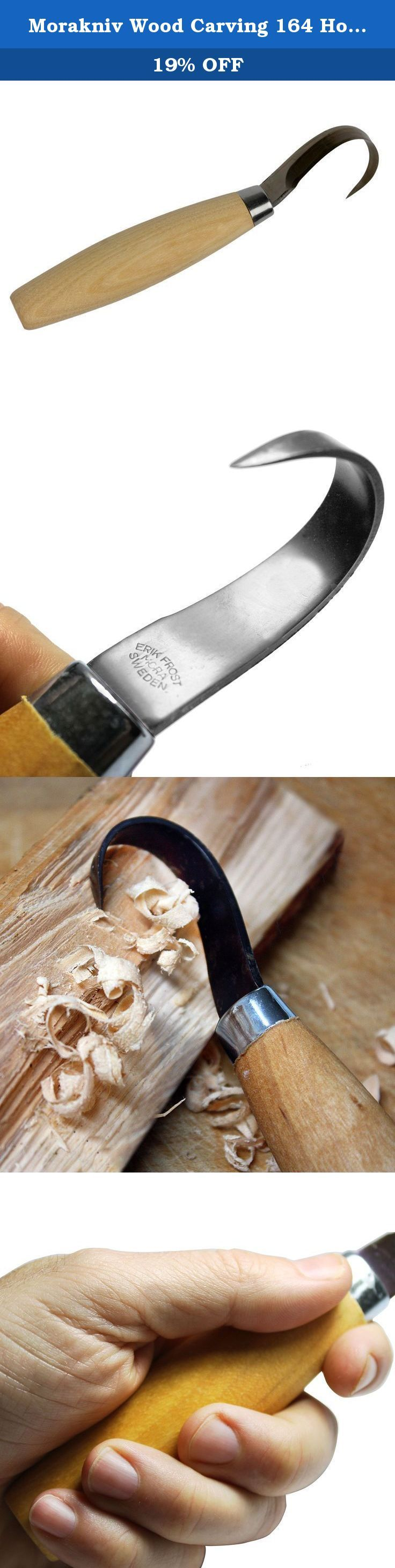 Morakniv Wood Carving 164 Hook Knife with Carbon Steel Blade. Generations of carpenters and wood carvers have appreciated the precision tools made by Morakniv in Mora, Sweden since 1891. Professionals worldwide trust the quality materials and fine craftsmanship of a Morakniv knife as they feature ergonomically-designed handles and employ premium-quality knife steel that is optimally adapted to the task for which the knife is intended. The Morakniv Wood Carving 164 Hook Knife for spoon and...