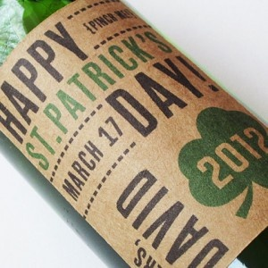 Personalized St. Patrick's Day Beer Labels
