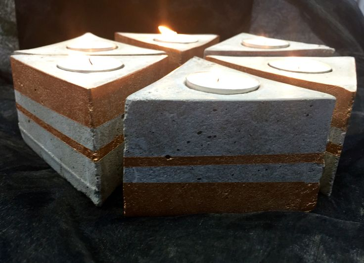 Triangle Concrete candle holder