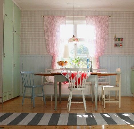 Great inspiration for our kitchen. Would never work in our small kitchen, but one can dream!