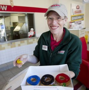"""Jackie Braun of Krispy Kreme - her deeds in making the special Olympic shaped donut for Jia Jiang during his quest """"100 Days of Rejection Therapy"""", shows the good side of social media.  When the video of her deeds was uploaded to Youtube, her story suddenly become widespread in social media as well as both online and offline media."""