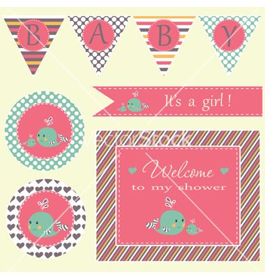 1154 best baby shower invites images on pinterest invites baby baby shower vector by lidiebug on vectorstock stopboris Image collections
