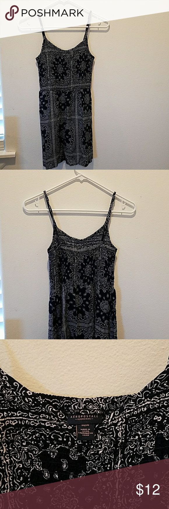 Fun boho top Super cute handkerchief pattern spaghetti strap top, could also be a tunic. Worn just a couple of times and in perfect condition.  Tag says size M but fits more like a small. This top is a must have for summer and fall. Aeropostale Tops Tank Tops