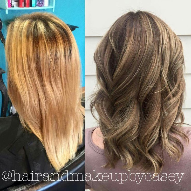 I'm in love with my new bronde hair! Dark ash blonde/light ash brown with highlights and lowlights. I wouldn't have believed that this is the same person if it weren't me. Thank you Casey West for an awesome job fixing my color nightmare!!!