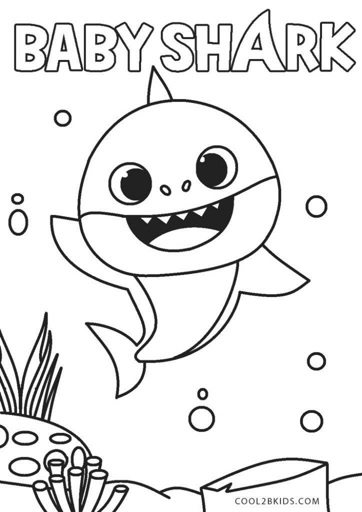 Free Printable Baby Shark Coloring Pages For Kids Shark Coloring Pages Baby Coloring Pages Minion Coloring Pages
