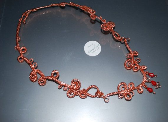 Beautiful Bold OOAK Statement Necklace Copper by choice4all