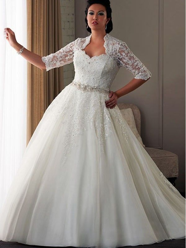 Stunning  best Plus size Wedding Gowns images on Pinterest Wedding dressses Marriage and Brides