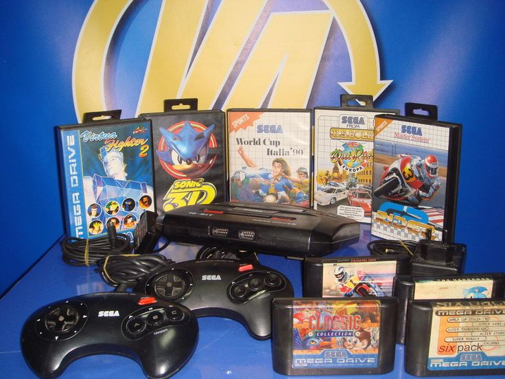 Consola SEGA MEGA DRIVE 2 + 2 mandos + 9 juegos-buen estado
