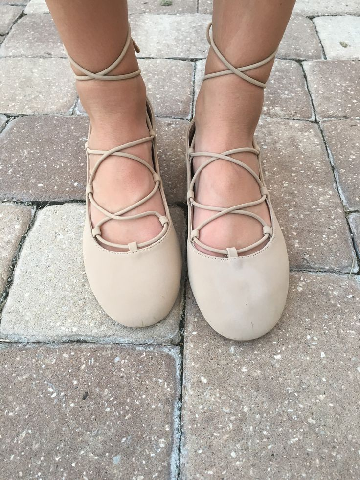 Twist Of Fate Flats - Nude from Chocolate Shoe Boutique
