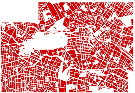 What happens when you look at cities from above and perform a visual autopsy?     A project by Armelle Caron. http://www.armellecaron.fr/cms/index.php?page=plans_de_berlin