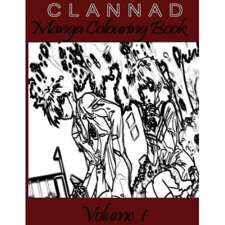 Clannad Manga Coloring Book: For Otakus and Manga Lovers Volume 1