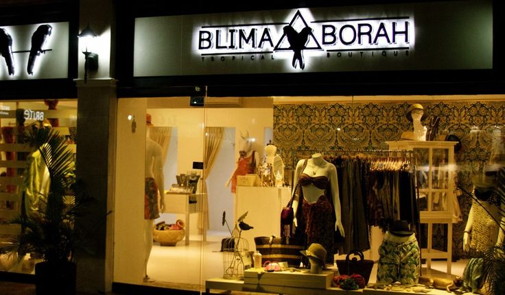 Kreative Advertising Company. Interior design project Blima & Bora tropical Boutique. Creating branding and interior design tropical style.