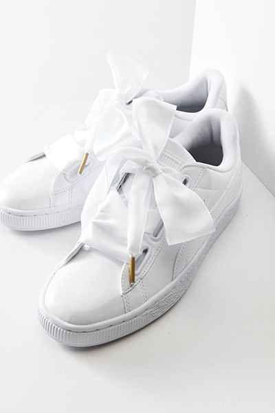 Puma BASKET BOW - Slip-ons - white Fjt9YC