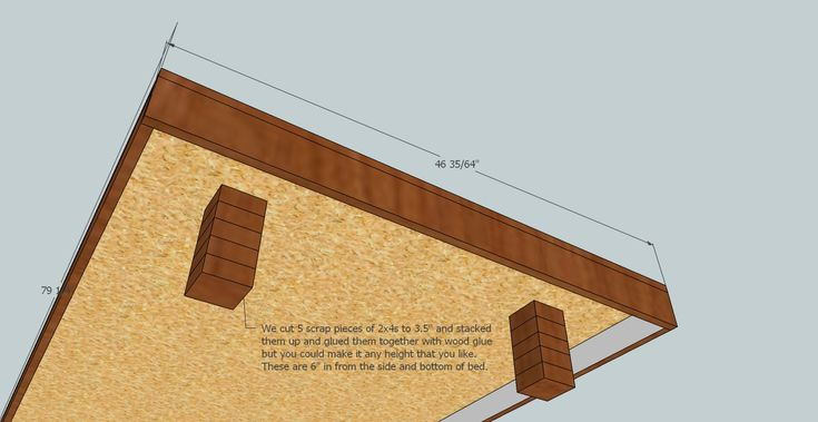Twin Size Floating Platform Bed Plan « DIY My Homes Seems very easy