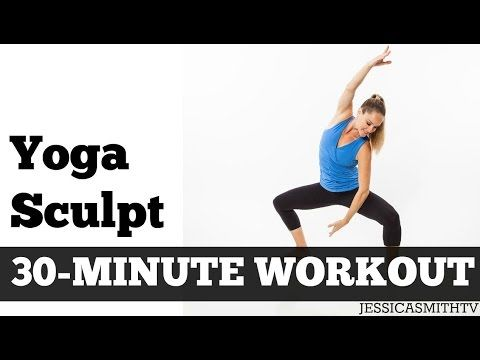 30 Minute Yoga Sculpt | Full Length Fat Burning Home Exercise Video for Total Body Toning - YouTube