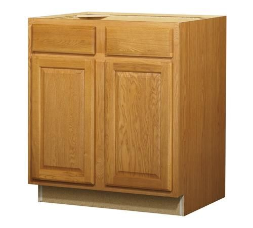 "Tips Tricks For Painting Oak Cabinets: Huron Oak Standard 2-Door/Drawer Base 30"" Cabinet At"