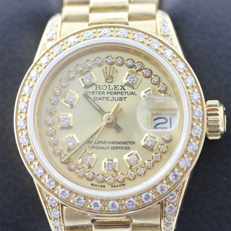 Rolex Presidential Band Datejust String Diamond Watch Oyster Perpetual 18K Gold  #Rolex #LuxuryDressStyles