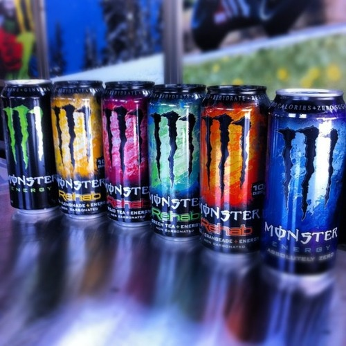 As an alternative to alcohol, we decided it would be far more appropriate to use a style of fizzy drink. The most effective of which being energy drinks, similar to that of Monster, Emerge or Rockstar. This way, players of our game will not be influenced by the characters and want to consume something which is ultimately harmful for their bodies.