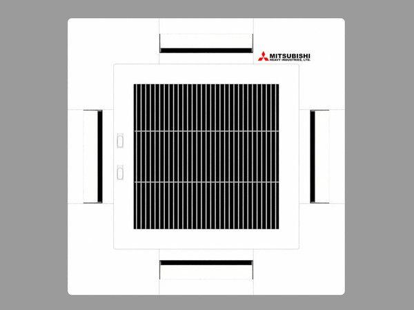 Mitsubishi Ceiling Cassette Air Conditioner 3D Model - 3D Model