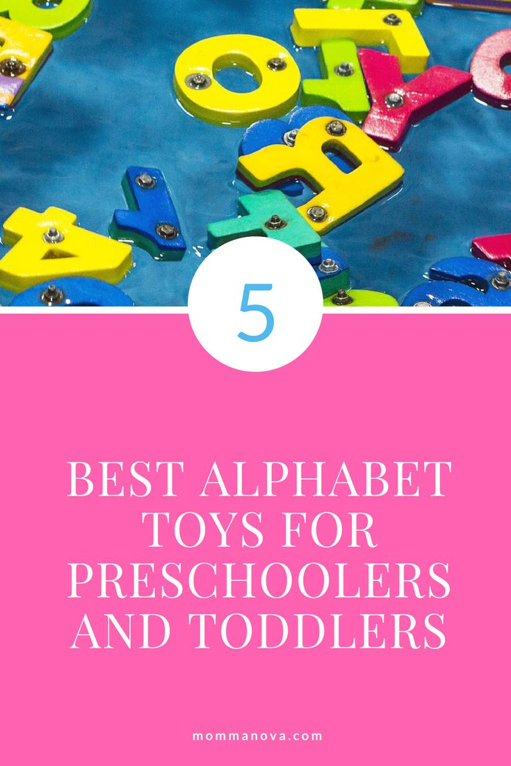 A collection of toys and games to help teach alphabet letters and sounds