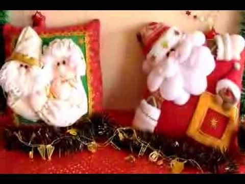 MUÑECOS NAVIDEÑOS: COJIN PAREJA NOEL y NOELA - COJIN SANTA y GALLETITA. Link download: http://www.getlinkyoutube.com/watch?v=xuuqdu-zZuk