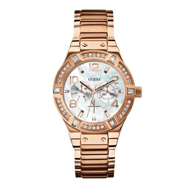 Guess Jet Setter Women's Gold Watch  39mm (W0290L2) - The Watches Men & Co - 1