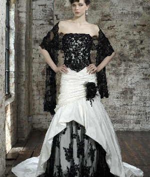 17 best images about black bridal wedding gowns on for Puerto rican wedding dress