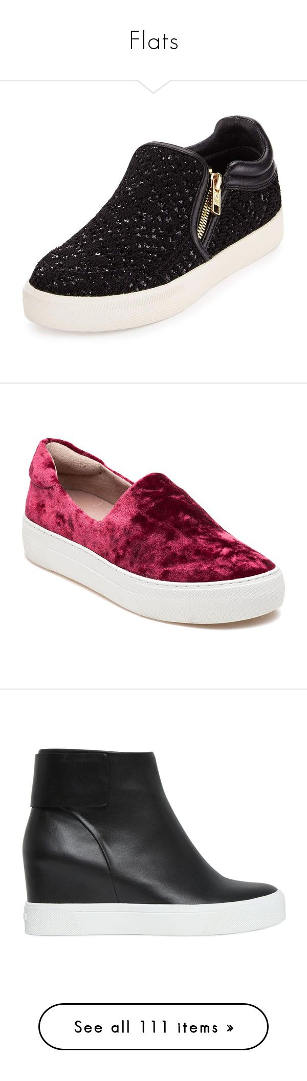 """""""Flats"""" by sailorjerri ❤ liked on Polyvore featuring shoes, sneakers, flats, golden shoes, ash sneakers, round cap, sequin shoes, platform shoes, burgundy velvet and velvet platform shoes                                                                                                                                                                                 More"""