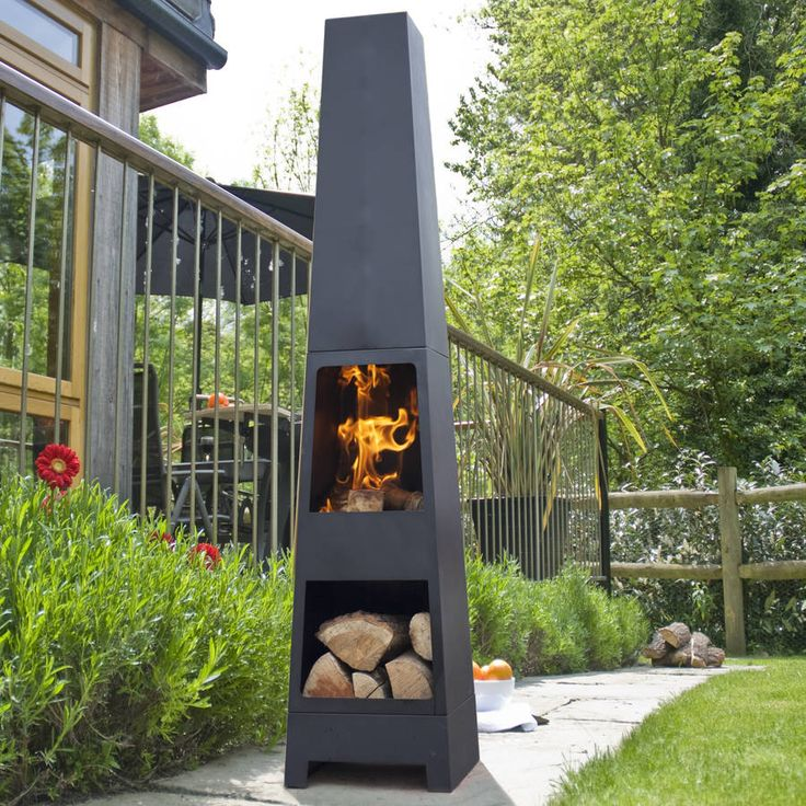 Malmo Chiminea Patio Heater And Log Store