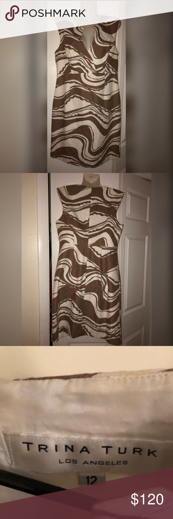 ❤️TRINA TURK DRESS This Trina Turner dress is beautiful & unique, absolutely an attention grabber! Will be perfect for any formal occasion and/or a day at the office. Worn only once on a date night & in great condition ❤️ Trina Turk Dresses