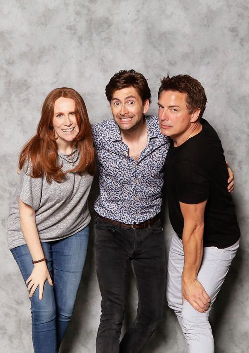 David Tennant with John Barrowman and Catherine Tate at AwesomeCon 2017 in Washington, D.C. (17.06.17) my dream tardis crew