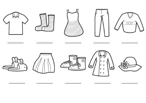 Colorear Dibujo Pantalón En Línea: Prendas: Dibujos Para Colorear E Imprimir